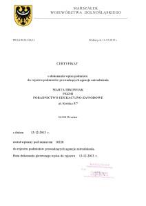 certyfikatRejestrAgencjiZatrudnienia