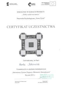 certyfikatSzkolenieInternetowySystemDiagnozySklonnosciZawodowyc