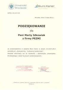 podziekowanieUniAutocoaching2013